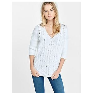 Express cable knit London sweater